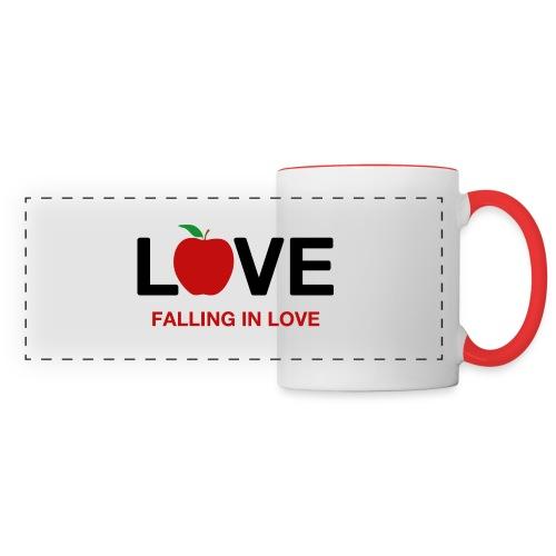 Falling in Love - Black - Panoramic Mug