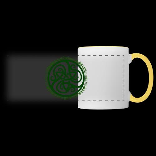 Green Celtic Triknot - Panoramic Mug
