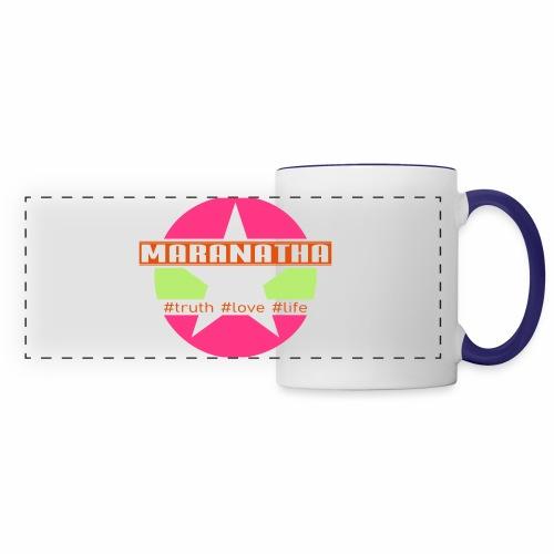maranatha rosa-grün - Panoramatasse