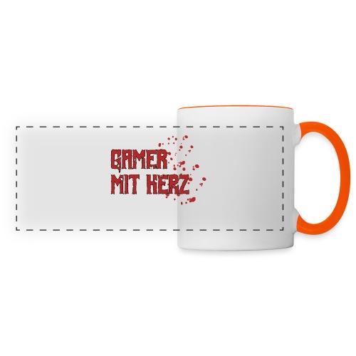 Gamer with heart - Panoramic Mug
