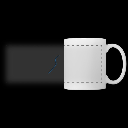 logo Style bleu - Mug panoramique contrasté et blanc