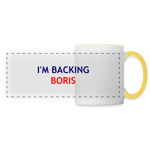 Backing Boris - Boxer Shirts - Panoramic Mug