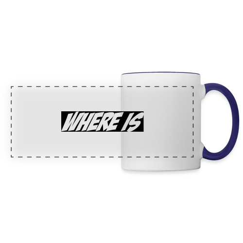 Where IS - Mug panoramique contrasté et blanc