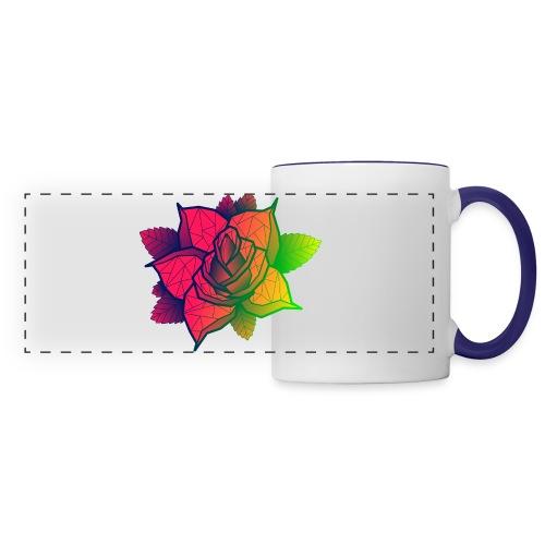 rose tricolore - Mug panoramique contrasté et blanc