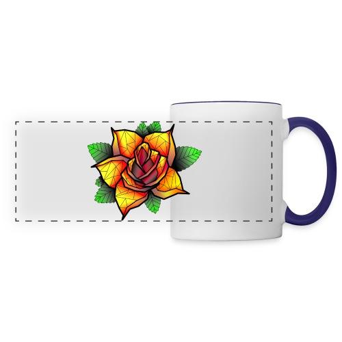 rose - Mug panoramique contrasté et blanc