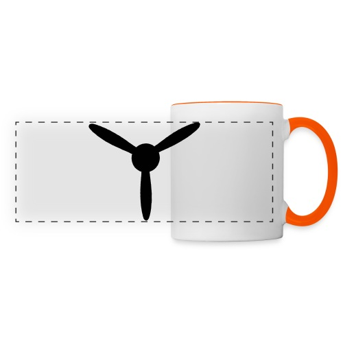 3 blade propeller 1 colour - Panoramic Mug