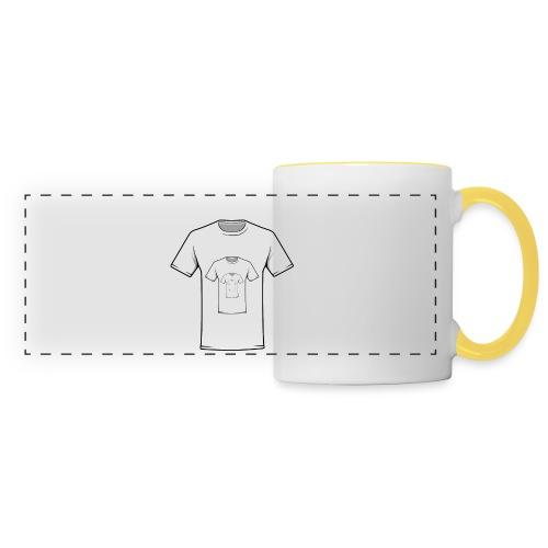 Inceptshirt - Mug panoramique contrasté et blanc
