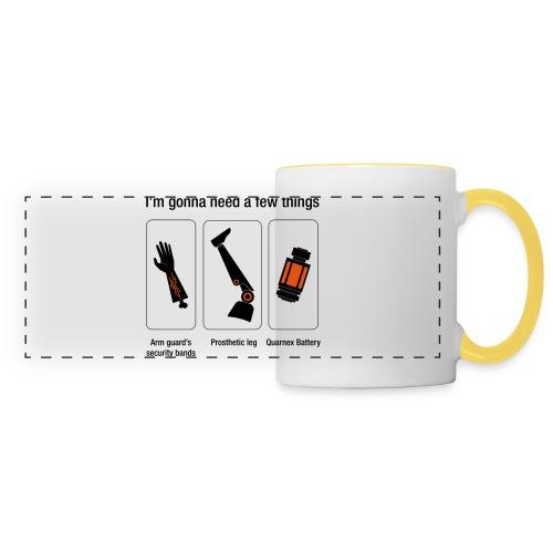 Rocket citation Few things gardiens - Mug panoramique contrasté et blanc