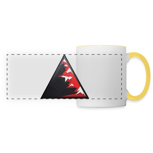 Climb high as a mountains to achieve high - Panoramic Mug