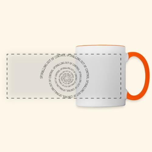 SPIRAL TEXT LOGO BLACK IMPRINT - Panoramic Mug