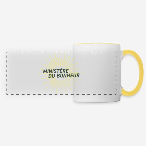 Ministère du Bonheur - Mug panoramique contrasté et blanc