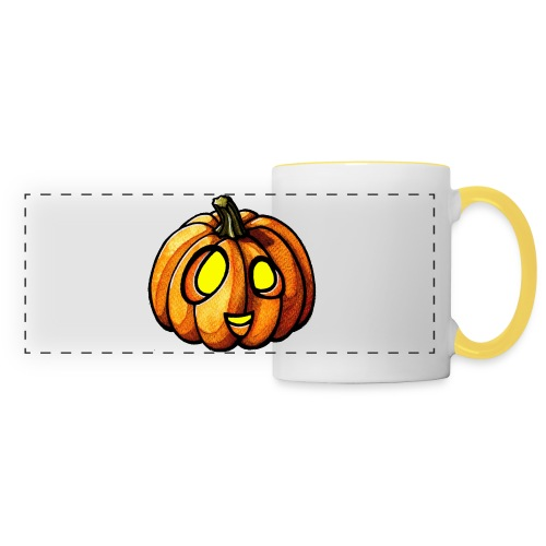 Pumpkin Halloween watercolor scribblesirii - Panoramic Mug