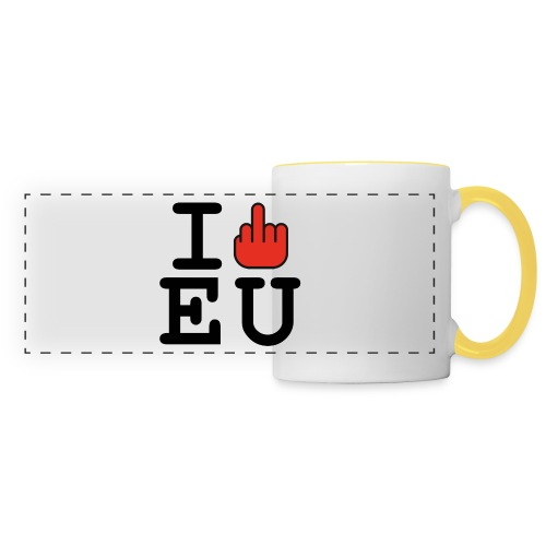 i fck EU European Union Brexit - Panoramic Mug