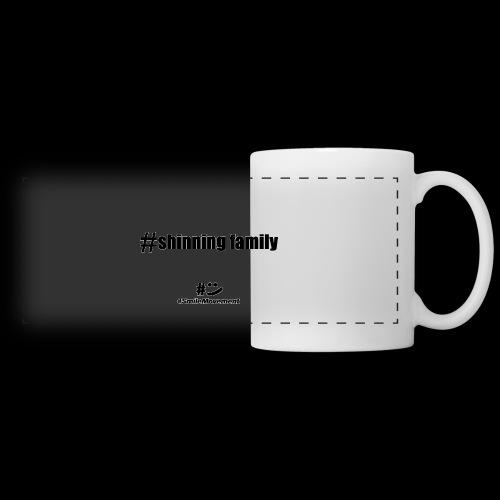 shinning family - Mug panoramique contrasté et blanc