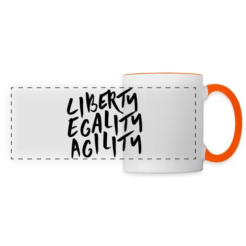 Liberty Egality Agility - Tote Bag - Mug panoramique contrasté et blanc