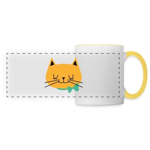 cat - Mug panoramique contrasté et blanc