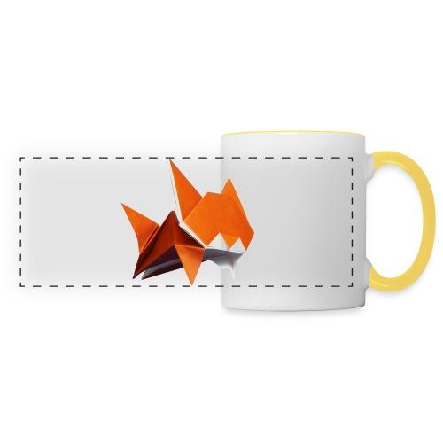 Jumping Cat Origami - Cat - Gato - Katze - Gatto - Panoramic Mug