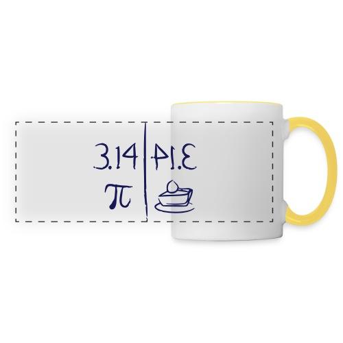 pi vs pie - Panoramic Mug