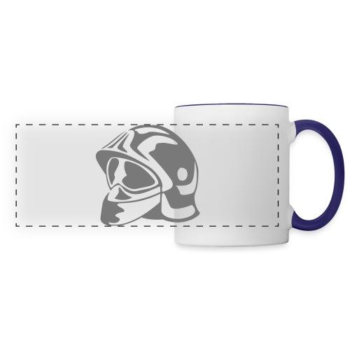 casque_pompier - Mug panoramique contrasté et blanc