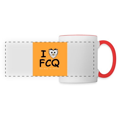 I Love FCQ button orange - Panoramatasse