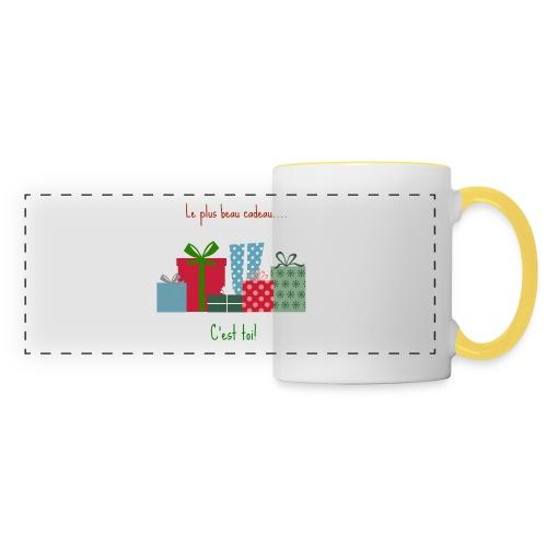Le plus beau cadeau - Mug panoramique contrasté et blanc