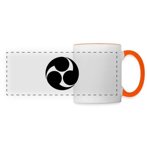 Kobayakawa Mon Japanese clan black - Panoramic Mug