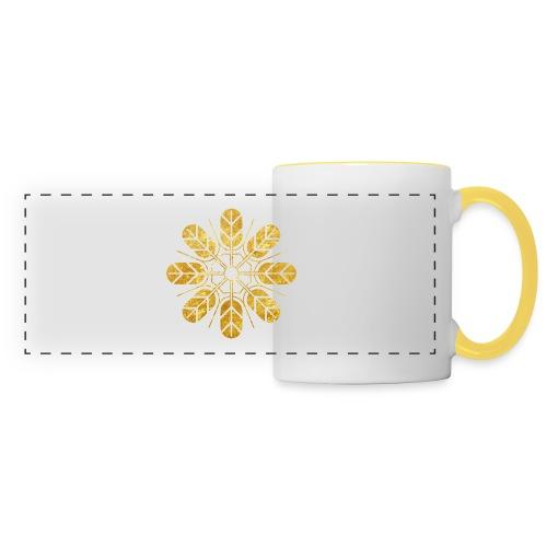 Inoue clan kamon in gold - Panoramic Mug