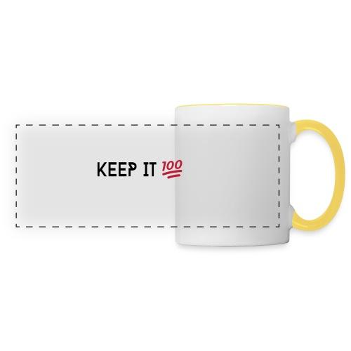 KEEP IT 100 ZWART png - Panoramamok
