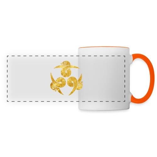 Three Geese Japanese Kamon in gold - Panoramic Mug