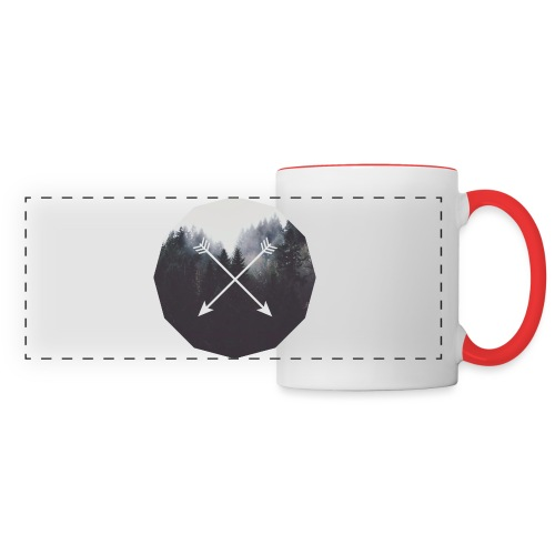 Misty Forest Blended With Crossed Arrows - Tazza con vista
