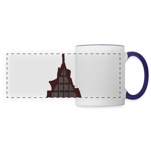 Vraiment, tablette de chocolat ! - Mug panoramique contrasté et blanc