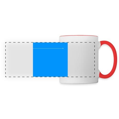 sklyline blue version - Mug panoramique contrasté et blanc