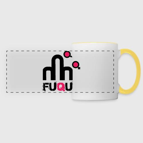 T-shirt FUQU logo colore nero - Tazza con vista