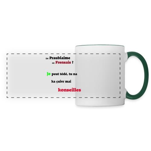 Probleme en français - Mug panoramique contrasté et blanc