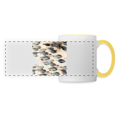 Poissons - Mug panoramique contrasté et blanc