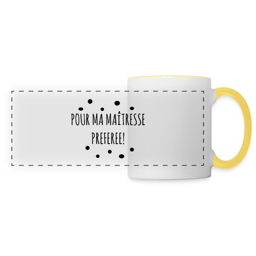 cadeau maîtresse - Mug panoramique contrasté et blanc