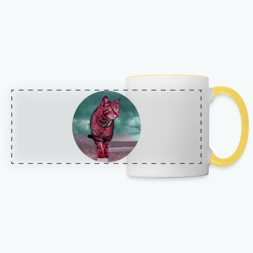 Chat sauvage - Mug panoramique contrasté et blanc