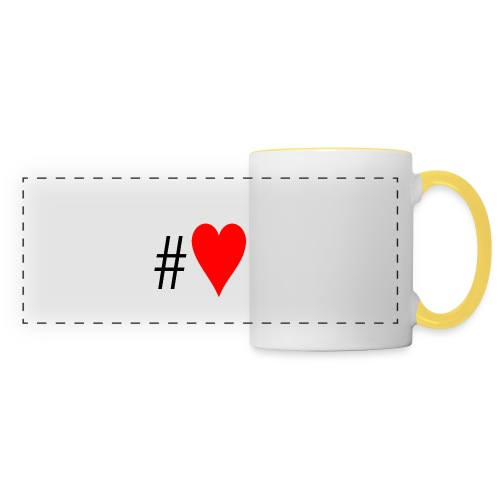 Hashtag Heart - Panoramic Mug