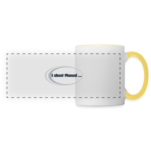 I shoot manual slogan - Panoramic Mug