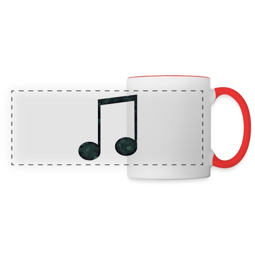 Low Poly Geometric Music Note - Panoramic Mug