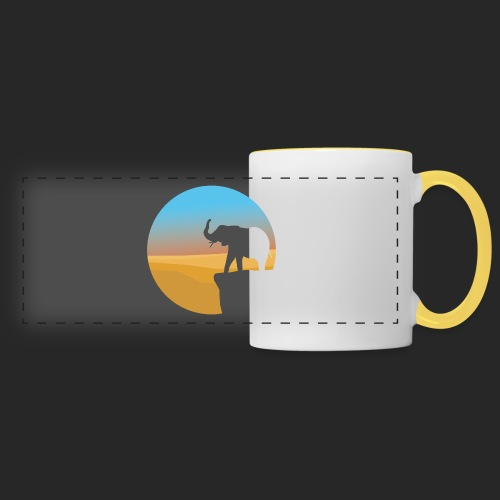 Sunset Elephant - Panoramic Mug