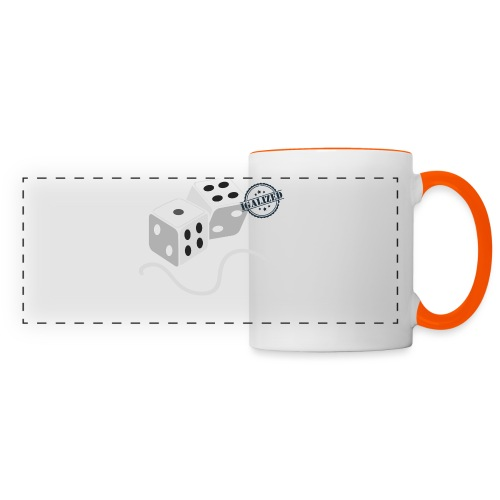 Dice - Symbols of Happiness - Panoramic Mug