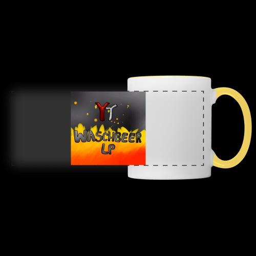 Waschbeer Design 2# Mit Flammen - Panoramatasse