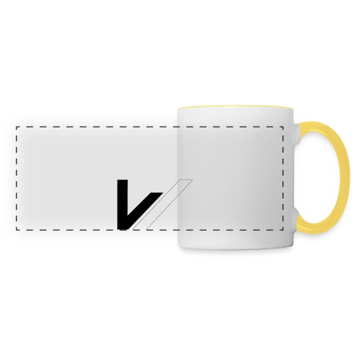 W - Mug panoramique contrasté et blanc