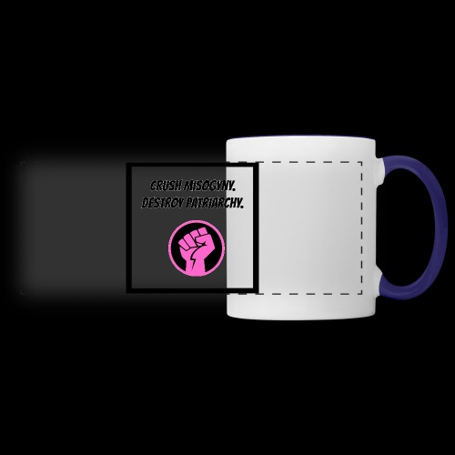 Crush misoginy. Destroy patriarchy. - Panoramic Mug