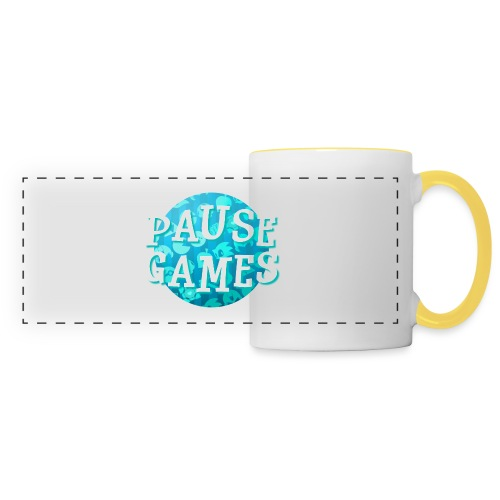 Pause Games New Design Blue - Panoramic Mug