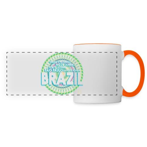 Lemon Brazil Mandala - Mug panoramique contrasté et blanc