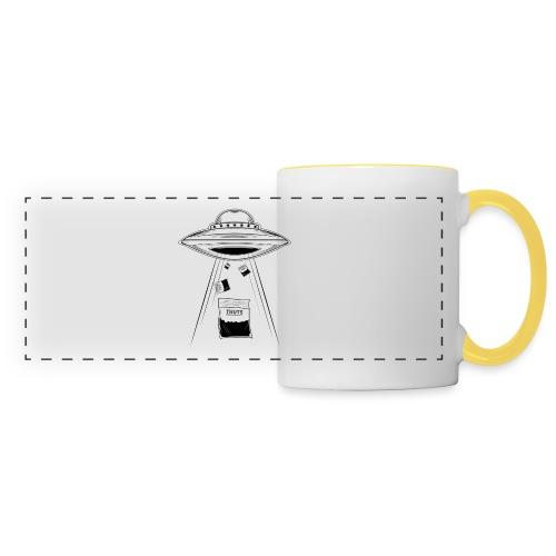 UFO thuts - Mug panoramique contrasté et blanc