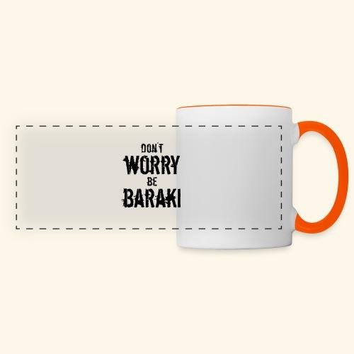 Be Baraki (Noir) - Mug panoramique contrasté et blanc