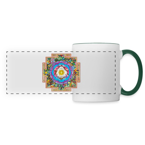 buddhist mandala - Panoramic Mug